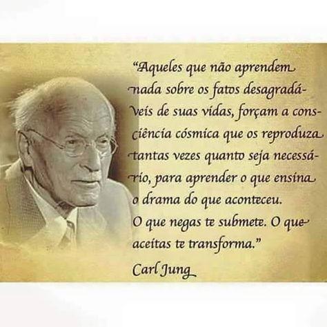 O Que Negas Te Submete O Que Aceitas Te Transforma Carl Jung
