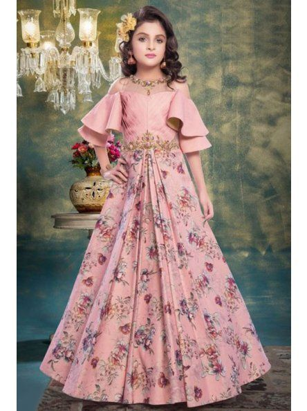 new model party wear gown for girls