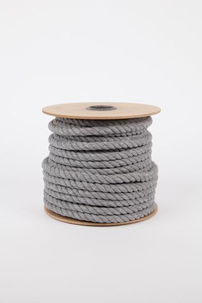 100 12mm Cotton Rope Spool Medium Gray Rope Modern Macrame Cotton Rope Macrame Thread Craft Supplies