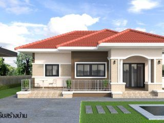 Wonderful One Storey House Designs With Three Bedrooms Ulric Home One Storey House Small House Design House Construction Plan