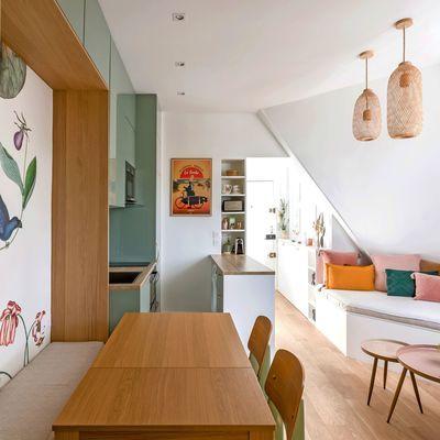 Petit Appartement Paris 10 Amenagements Sur Mesure Et Deco Champetre Petit Appartement Appartement Et Appartement Paris