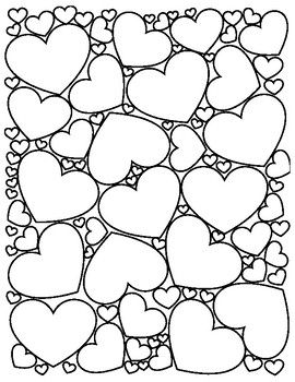 Enjoy This Coloring Page Filled With Hearts Happy Valentine S Day Valentine Coloring Pages Heart Coloring Pages Valentine Coloring