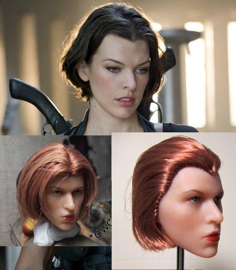 Custom Ada Wong 1//6 Head Sculpt for Resident Evil Hot Toys Female Phicen Body
