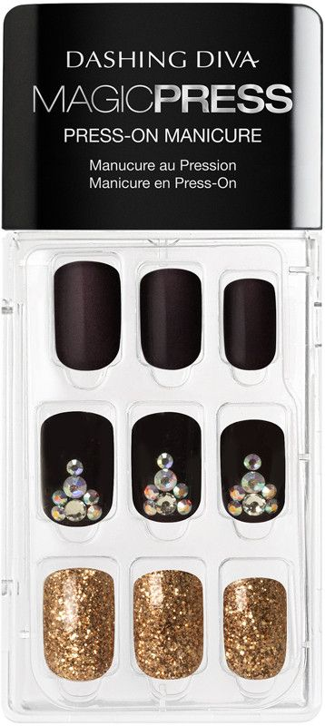 Dashing Diva Magic Press Toast Of The Town Press On Gel Nails Ulta Beauty In 2020 Gel Nails Impress Nails Christmas Nails