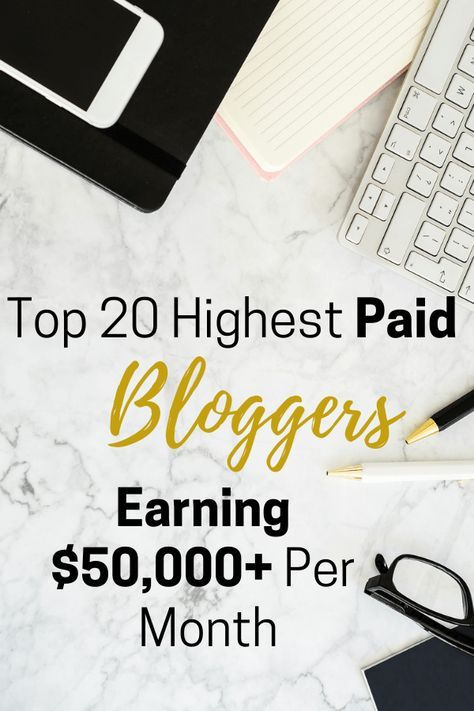 Top 20 Highest Paid Bloggers Earning $50,000+ Per Month | BIZGILT