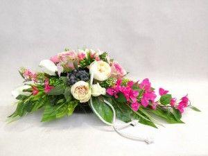 Bugenwilla Roz Piwonie Roze 1920 3a Stroik Na Grob Floral Wreaths Floral Wreath