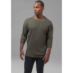 Urban Classics Herren Langarmshirts Sweatshirt Longsleeve Thermal Boxy Tee 3/4tb276 turquoise Basic