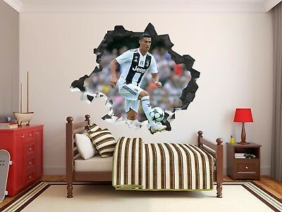 Cristiano Ronaldo Juventus Wall Decal Decor Stickers Vinyl Sport 3d Wall Hole 2 Ebay In 2021 Wall Decals Ronaldo Cristiano Ronaldo Juventus Latest juventus room paint color
