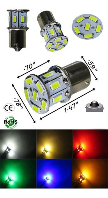 1129 Led Bulb 6 To 24 Volt 13 Smd Automotive Ledlight Automotive Led Lights Led Bulb Led Lights