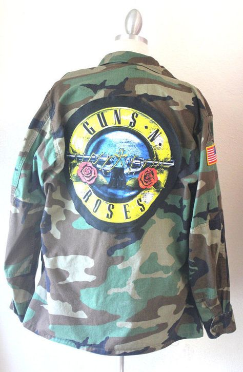 Details about Make Your Own Army Jacket Rock and Roll Guns N