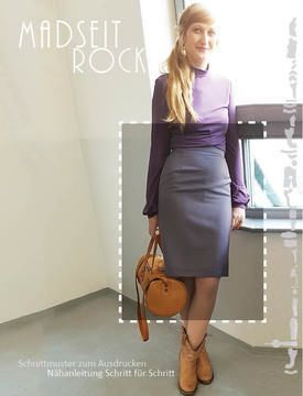 online store b3bd8 c602f Stiftrock zum selber #nähen #elegant mit #Schlitz oder #kurz ...