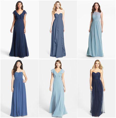 8824c901d02 List of Pinterest mismatched bridesmaid dresses fall blue images ...