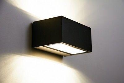 Led Garten Aussen Haus Wand Lampe Leuchte Beleuchtung Hof Design Up Down Strahler Livingroom Kitchen Inte Exterior Lighting Modern House Exterior Wall Lights