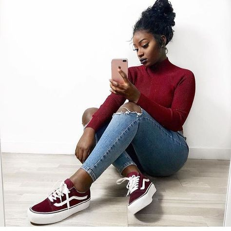 For more poppin pins ❤ ️⚡ ️✨ tenis vans, vans outfit, fashion killa, fashio
