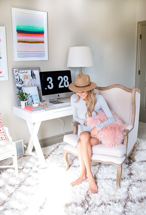 This Home Office Is Every Fashion Girl's Dream