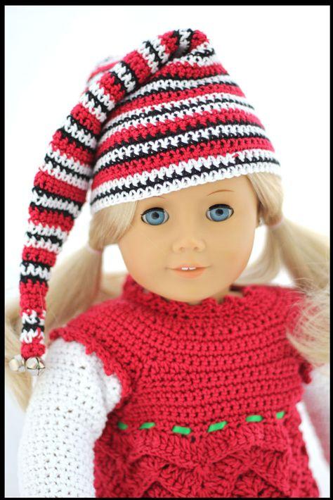 Elfish Sprinkles Crochet Pattern for 18 inch Dolls and American Girl Doll.