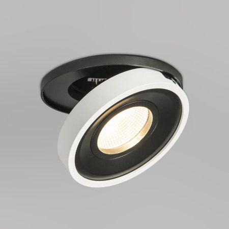 Einbaustrahler Twingo 1 weiß: Schöne LED-Einbauleuchte Twingo 1 in runder Ausgührung. Der Aluminiumstrahler verstellbar. Es ist ein LED-Modul verbaut, welches sehr effizient leuchtet. #Innenbeleuchtung #Licht #weiss