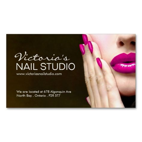 Shop Nail Technician ~ Business Card Template created by colourfuldesigns.
