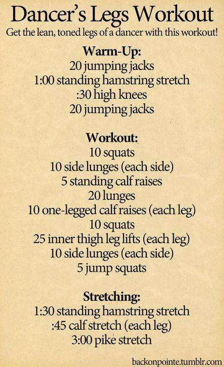 dancer's leg workout