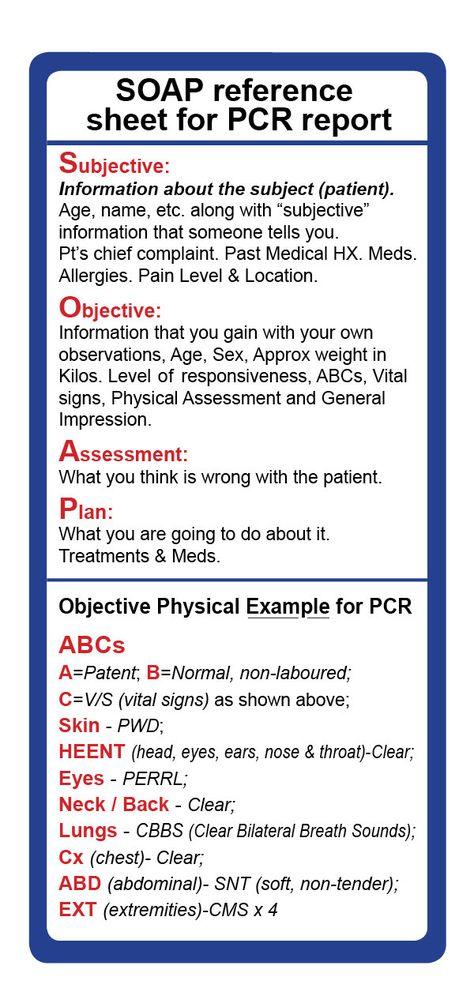 Emt Assessment Cheat Sheet  Yahoo Image Search Results  Emt