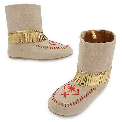 Disney Store Pocahontas Costume Shoes Sandals Size 2//3 Mocassins New