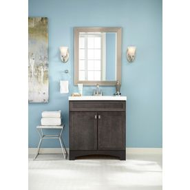 Style Selections Drayden 30 In Heirloom Single Sink Bathroom Vanity With White Cultured Marble Top Lowes Com Single Sink Bathroom Vanity Bathroom Sink Vanity Bathroom Vanity