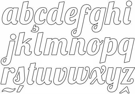 Alfabeto Cursivo Moldes Para Imprimir Moldes De Letras Cursiva