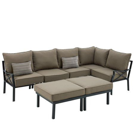 Marvelous Mainstays Sandhill 7 Piece Outdoor Sofa Sectional Set Seats Uwap Interior Chair Design Uwaporg