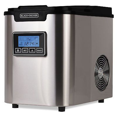 Countertop Ice Makers 122929 Black Decker 26 Lb Daily Production Portable Clear Ice Maker Buy It N Portable Ice Maker Ice Maker Black Decker