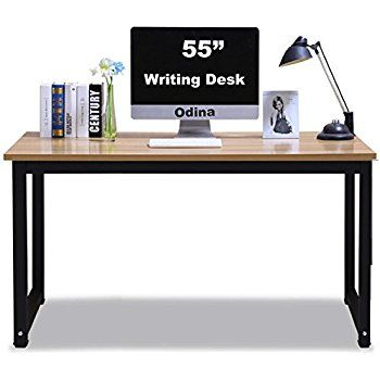 Amazon Com Tribesigns Computer Desk 55 Quot Large Office Desk Computer Table Study Writing Desk For Home Office Teak Office Desk Large Office Desk Desk