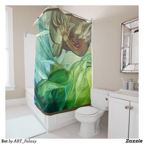 Bat Shower Curtain Zazzle Com Curtains Art
