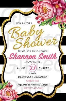 Baby Shower Invitation Kate Spade Theme