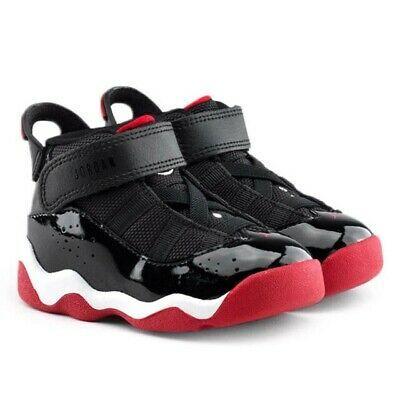 Nike Air Jordan 6 Rings Black/Red Toddler Shoe Size 8C   Lot Of ...