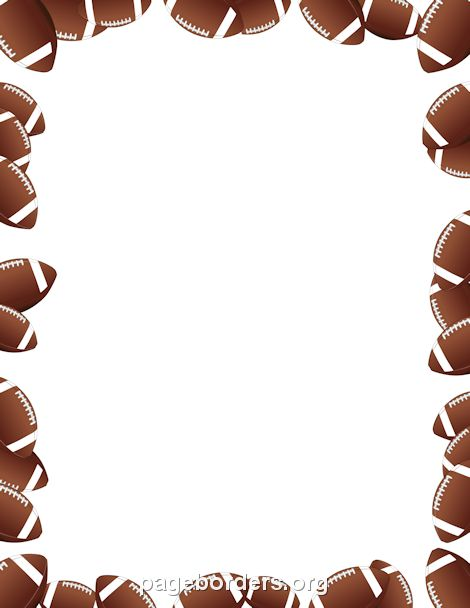 Printable footballs border Use the border in Microsoft Word or - free page border templates for microsoft word