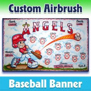 Baseball Banner Angels 1001 In 2020 Baseball Banner Team Banner Baseball Team Banner