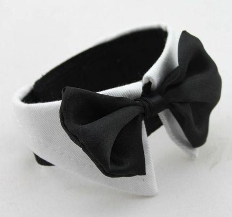 White Bow Tie Dog Collar 10 Sizes Doggie Style Store Http Www Amazon Co Uk Dp B009exh4ee Ref Cm Sw R Pi Dog Collar Bow Tie Dog Neck Tie Dog Tuxedo Wedding
