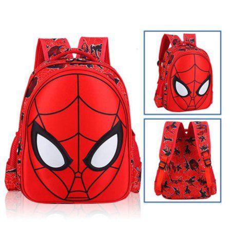 Boys Girls Kid Nursery Toddler Super hero Spiderman Backpacks Schoolbag Mini Bag