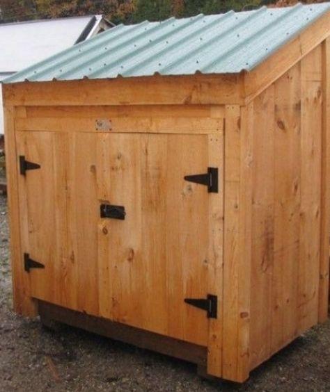 3x4 Garbage Bin #shedplans in 2020   Garbage shed, Diy ... #gardens #smallgardens