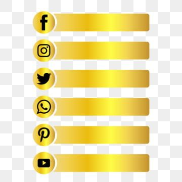 Social Media Gold Button Following Luxury Lower Third Social Media Social Media Logo Social Media Icon Png And Vector With Transparent Background For Free Do Social Media Icons Social Media Social
