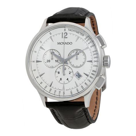 97caa8c96c7 Movado Circa Chronograph White Dial Men s Watch 0606575