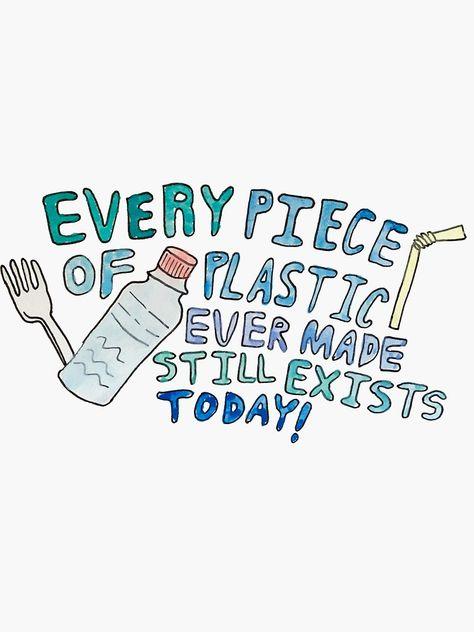 'Plastic Awareness' Sticker by Sydney Mills
