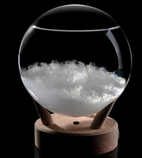 Storm Glass Barometer Crystal Drops Water Shape Large Weather Monitor