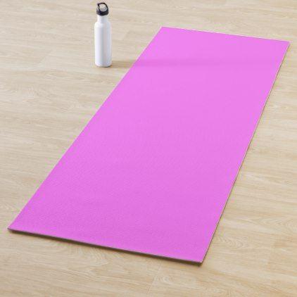 Color Ultra Pink Yoga Mat Zazzle Com Custom Yoga Mat Yoga Mats Design Yoga Mat