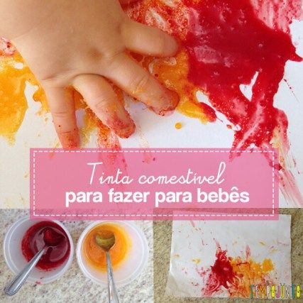 Atividade Para Bebes De 6 A 12 Meses Pintura Com Tinta