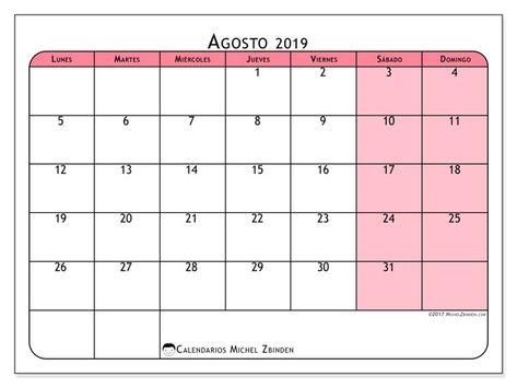 Calendario Agosto 2019 Espana.Pinterest Espana