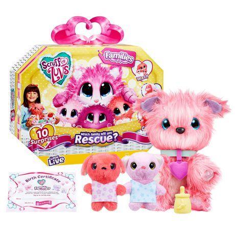 Little Live Scruff A Luvs Families Pink Little Live Pets Family Pet Luvs