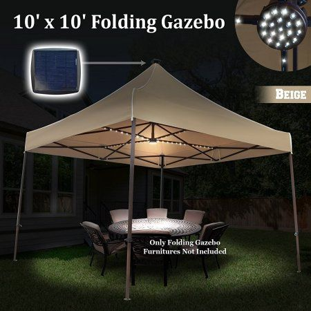 Sports Outdoors Solar Led Lights Solar Led Pop Up Canopy Tent