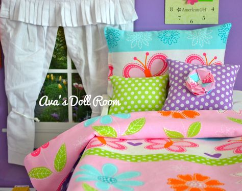 American Girl Doll Bedding 4 Piece set for 18 inch Dolls