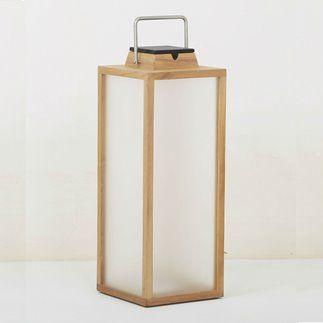 Tinka Tradition Lampe D Exterieur Led Rechargeable Et Solaire Bois Inox H65cm Bois Naturel Les Jardins 319 00 In 2020