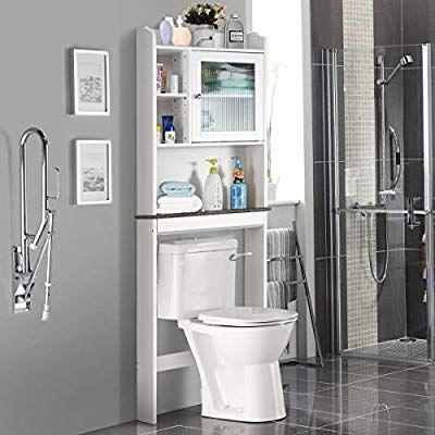 Giantex Over The Toilet Space Saver Collette Bathroom Spacesaver